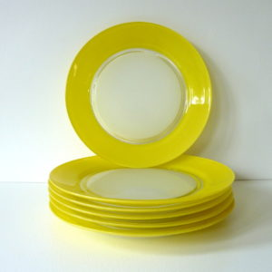 Assiettes Duralex jaune