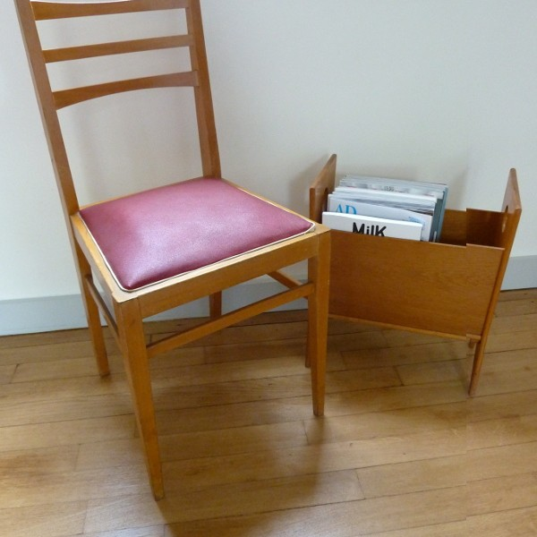 Duo chaises framboise