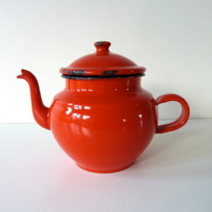 Cafetiere émaillée rouge
