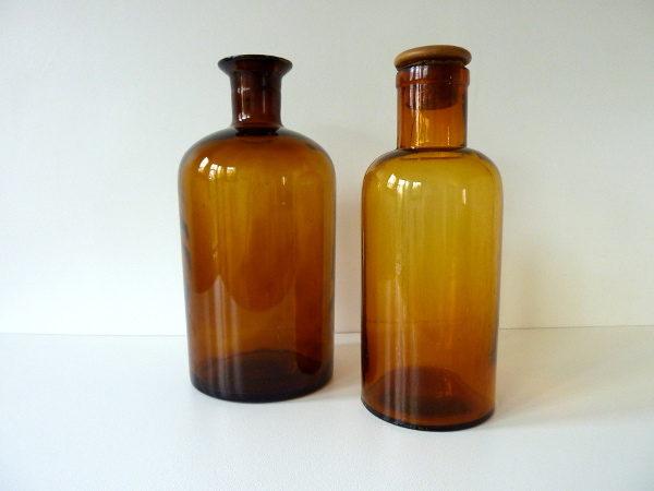 Flacon brun