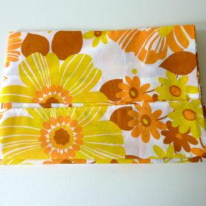 Taie fleurs orange