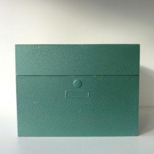 boite à fiches verte