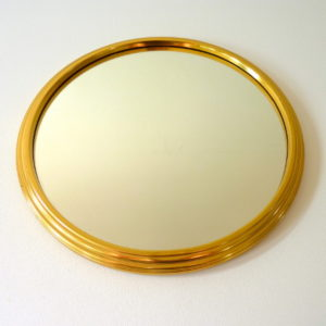 plateau rond miroir