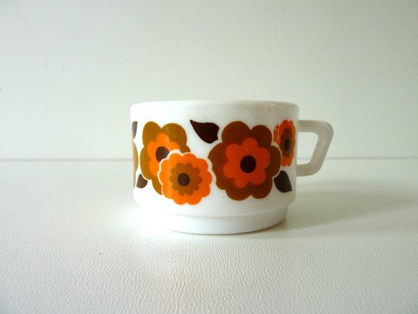 tasses à café lotus orange