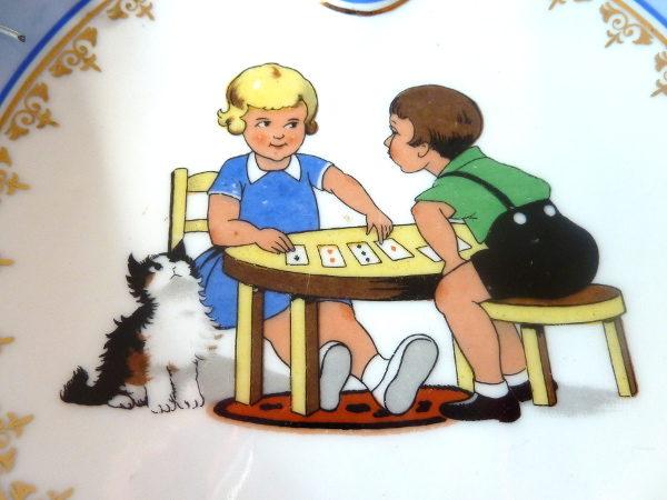 Assiette jeu de cartes
