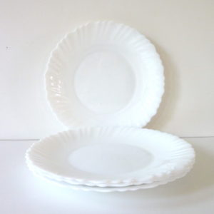 Assiettes plates Coquillage