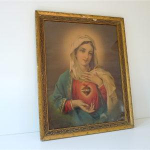 Cadre doré Marie