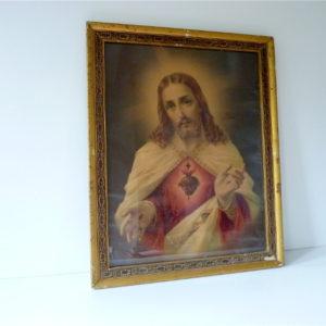 Cadre doré Jésus