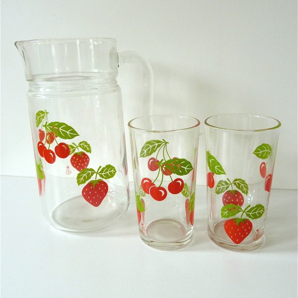 Ensemble fraises et cerises