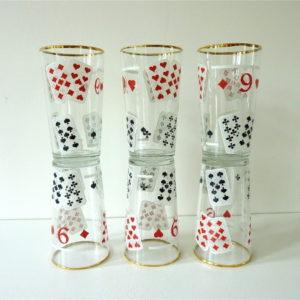 6 verres jeu de carte