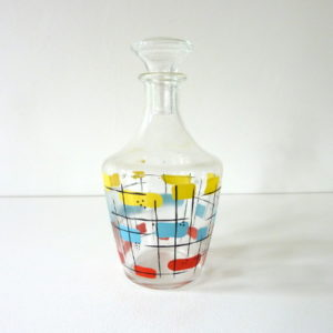 Carafe à liqueur multicolore