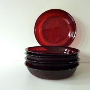 Assiettes Sierra rouge