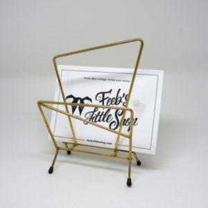 Porte lettres doré