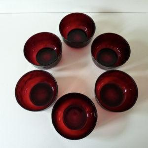 6 bols Sierra rouge