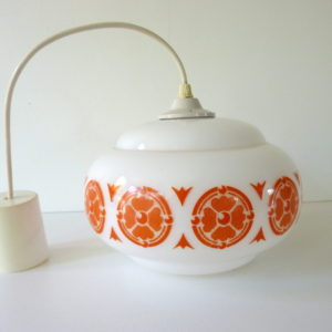 Suspension opaline motifs orange