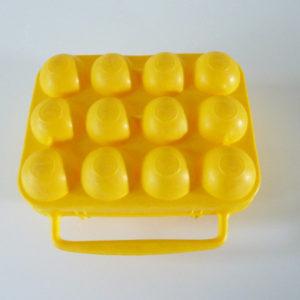 boite oeufs jaune orange