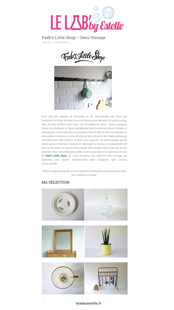 Le Lab' by Estelle article