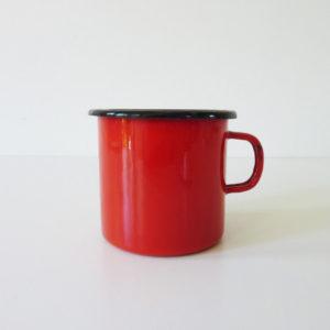 Mug émaillé rouge
