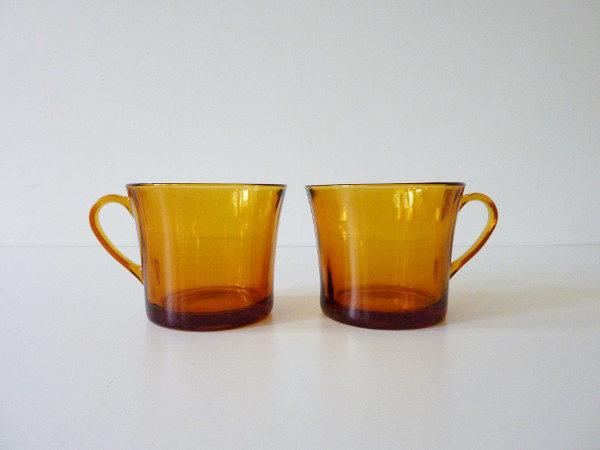 Tasses ambre duralex