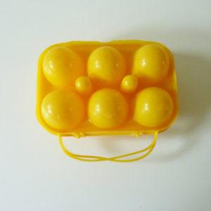 Boite à œufs jaune