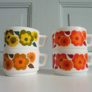 tasses à café arcopal modèle lotus