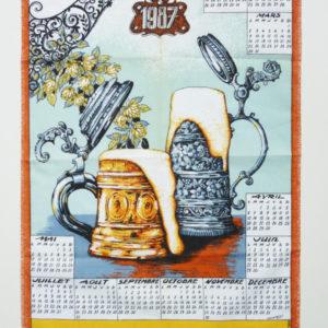 Torchon calendrier 1987