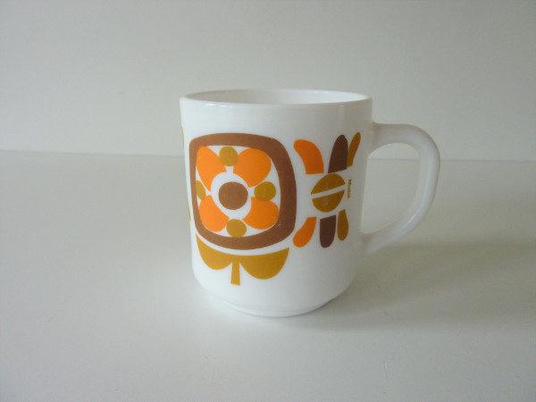 Mug Mobil orange et moutarde