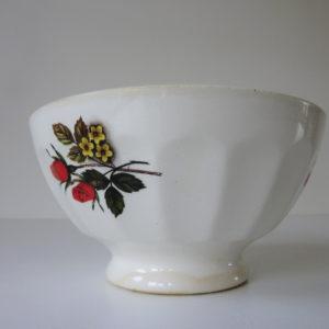 Bol à fleurs ancien Sarreguemine