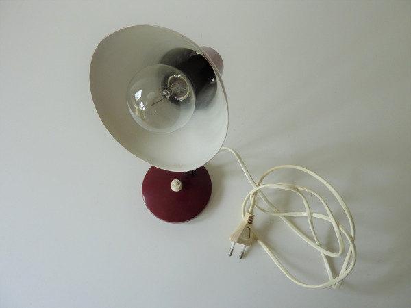 lampe vintage de chevet bordeaux