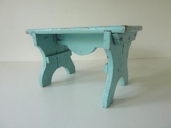 marche pied ancien en bois années 40