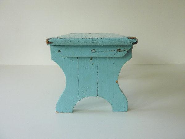 marche pied vintage en bois