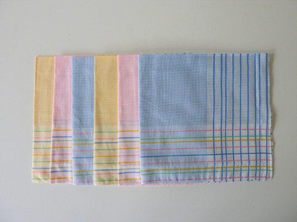 mouchoirs imprimé carreaux vintage