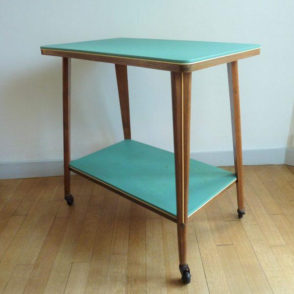 table à roulettes années 50 60