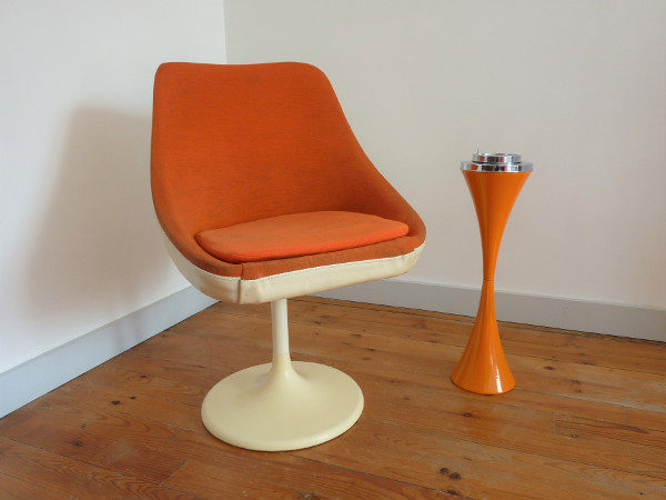 fauteuil Joe Colombo orange 70's