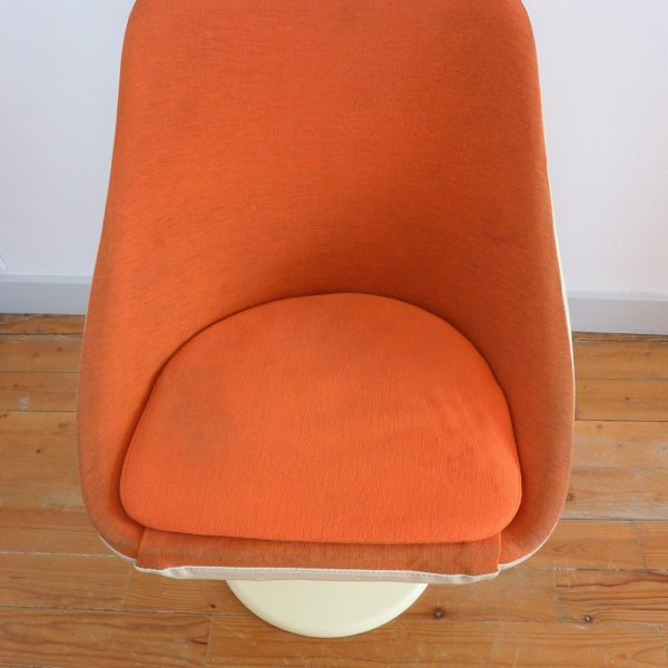 fauteuil Joe Colombo orange assise
