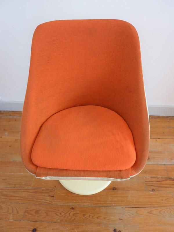 fauteuil tulipe orange feeb 39 s little shop. Black Bedroom Furniture Sets. Home Design Ideas