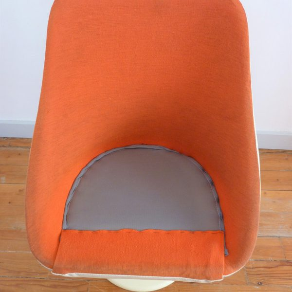 fauteuil Joe Colombo orange détail