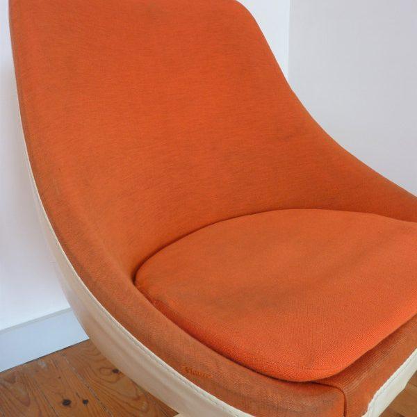 fauteuil Joe Colombo orange tissu