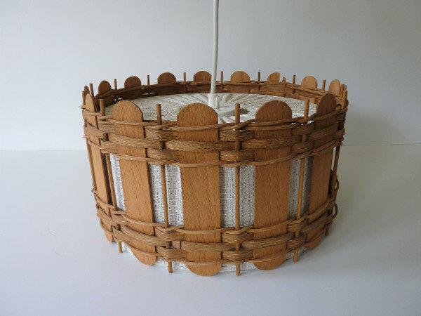 suspension bois et tissu années 50