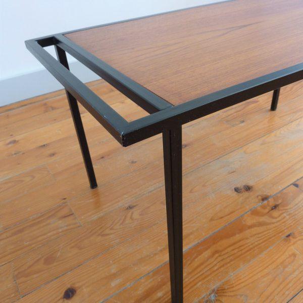 table basse vintage métal