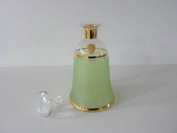 Carafe givrée verte vintage