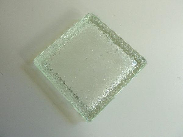 Cendrier brique de verre moulé pressé nevada années 50