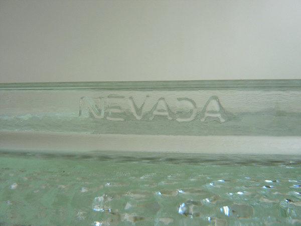 Cendrier nevada en verre vintage