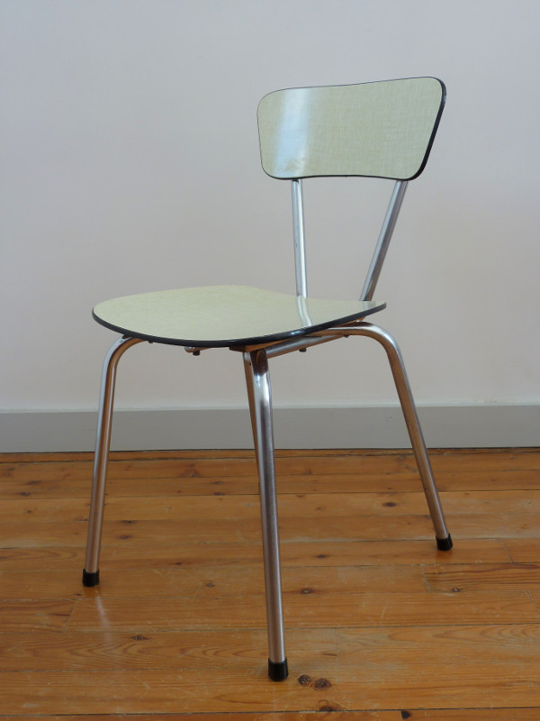 Ensemble formica jaune feeb 39 s little shop for Chaise formica