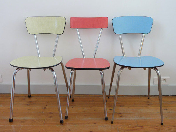 Chaises Formica multicolores