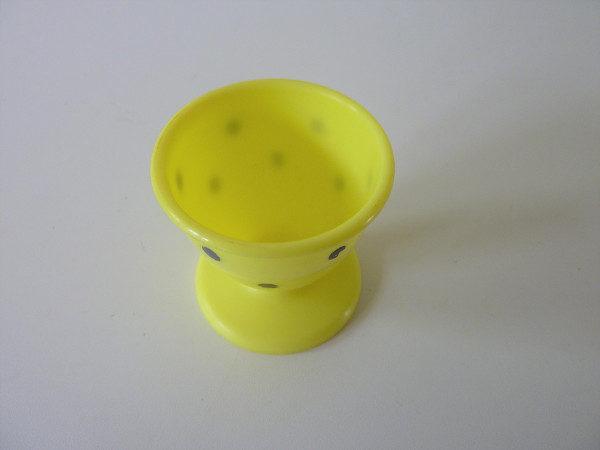 Coquetier jaune à pois kayser