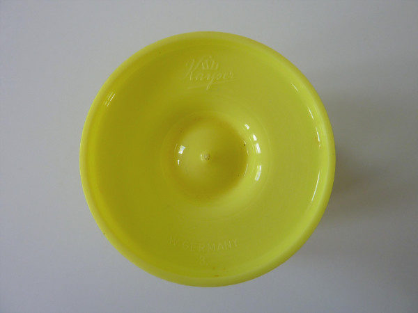 Coquetier jaune à pois marque kayser