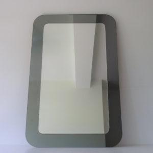 Miroir bicolore blanc et gris vintage 70's