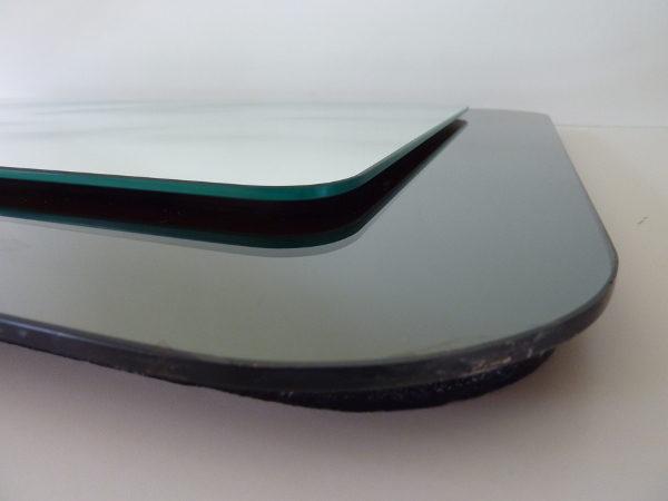 Miroir bicolore vintage 70's gris et blanc