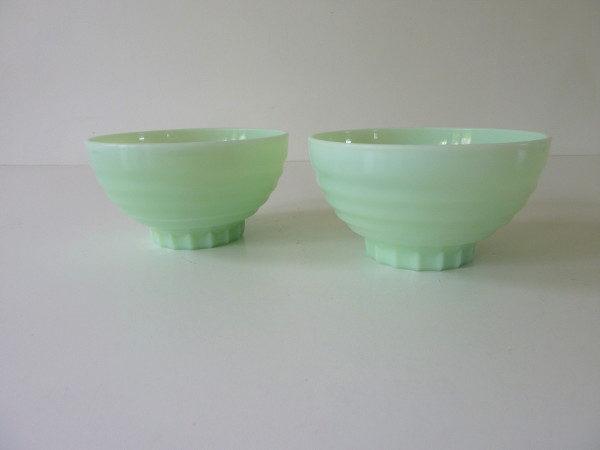 bols opaline vert vintage